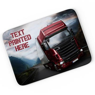 Personalised Lorry Truck Mouse Mat Pad Computer Gaming Driver Gift Him Boy LB002 • 7.95£