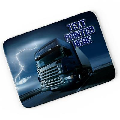 Personalised Lorry Truck Mouse Mat Pad Computer Gaming Driver Gift Him Boy LB004 • 7.95£