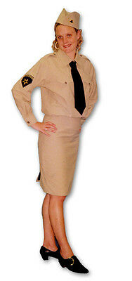 1940's Andrews Sisters Womens War Fancy Dress Costume Outfit UK Size 12 - 28 • 30£