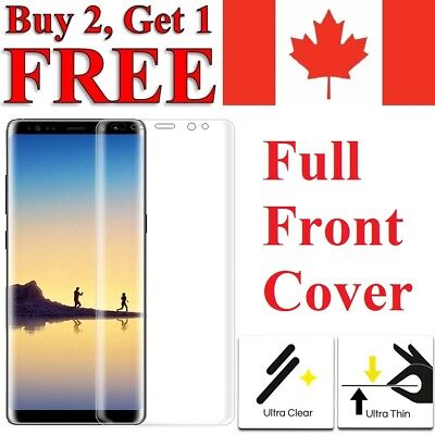 $ CDN4.95 • Buy Premium Full Curved TPU Clear Screen Protector For Samsung Galaxy Note 8