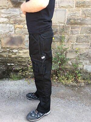 £13.95 • Buy Scruffs Worker Trousers Black Cargo Style With Knee Pad Pockets