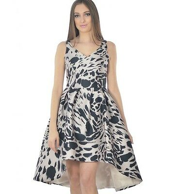 Coast High Low Splash Pattern  Blog Fav. Party Prom Dress Size 6-8-10-12-14 • 39.99£