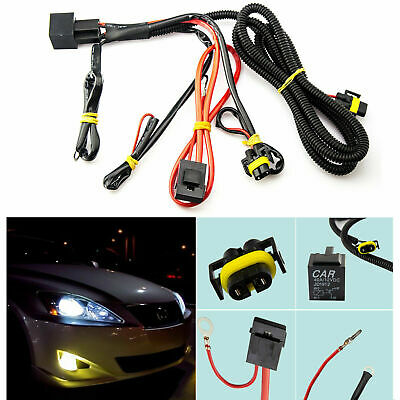 $11.94 • Buy 1x H11 880 Relay Wiring Harness HID Conversion Retrofit Kit Add-On Fog Light DRL