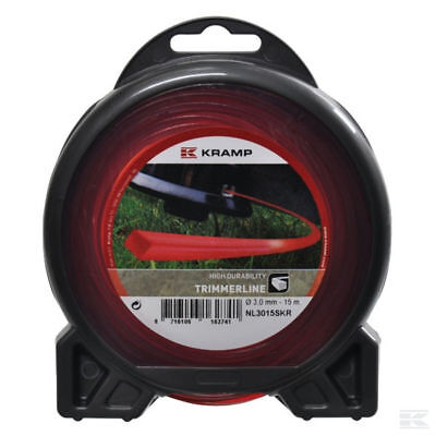 £8.05 • Buy 3mm X 15M HEAVY DUTY STRIMMER TRIMMER SQUARE LINE