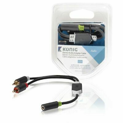 £4.62 • Buy 3.5mm Y Adapter Audio Cable Stereo Female Mini Jack To 2 RCA Male Adapter AUX