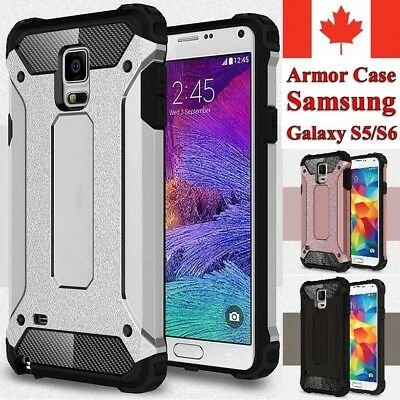 $ CDN6.95 • Buy For Samsung Galaxy S5 / S6 Case - Dual Layer Hybrid Shockproof Armor Cover