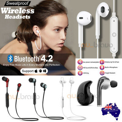 AU8.95 • Buy Wireless Bluetooth Sports Headphones Earphones Headset For IPhone Samsung Apple
