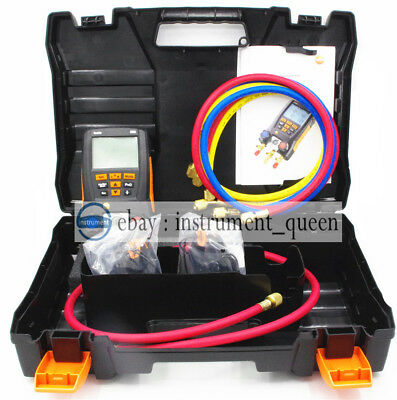 $275.59 • Buy Testo 550 With Hoses Refrigeration Digital Manifold Kit 0563 1550 Clamp Probes