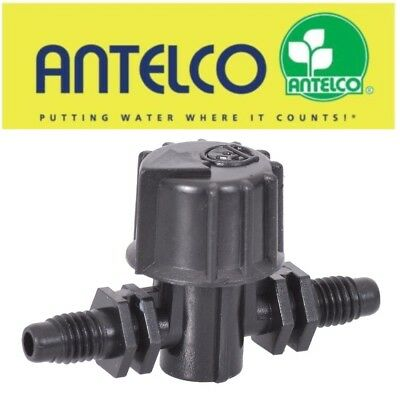 £4.75 • Buy 4mm MICRO IRRIGATION THREADED IN-LINE VALVE /TAP HOZELOCK COMPATIBLE HYDROPONICS