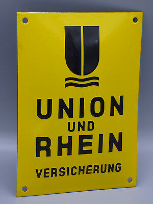 $ CDN172.09 • Buy Vintage German Porcelain  Union Und Rhein  Fire Insurance Sign/ Wall Plaque