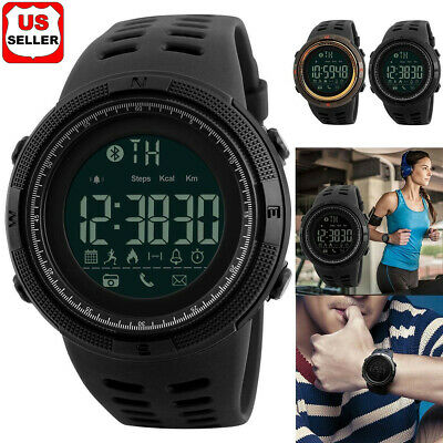 $ CDN18.13 • Buy SKMEI Fashion Men's Smart Watch Bluetooth Digital Sports Wrist Watch Waterproof