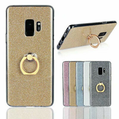AU5.99 • Buy For OPPO XiaoMi RedMi Case Cover Gradient Glitter Bracket Ring Soft Silicone