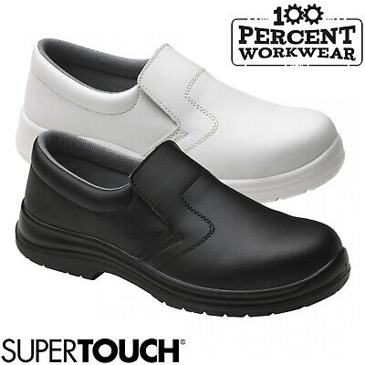 Nurses Medical Food Hygiene Catering Slip On Safety Shoes Steel Toe Cap S2 SRC • 25.50£