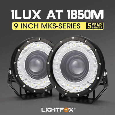 AU299.95 • Buy LightFox 9inch LED Driving Lights Round SpotLights DRL 4x4 Offroad Work