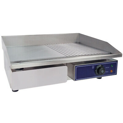 £119 • Buy Electric Griddle Flat & Groove Grill BBQ Teppanyaki Commercial Hot Plate 3000W