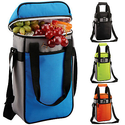 GEEZY Insulated Bottle Drinks Cool Bag Zip Up Ice Wine Cooler Carrier Lunch Box • 6.49£