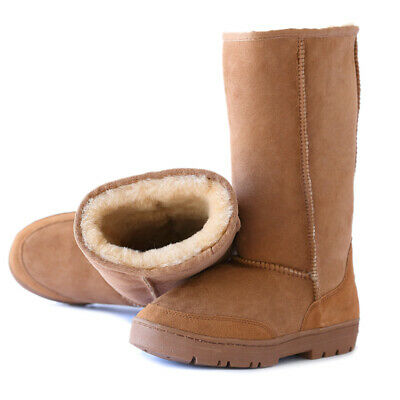 AU88.32 • Buy UGG Tall Premium Australian Shearing Sheepskins Rubber Grip-sole 4Color Siz 4-12