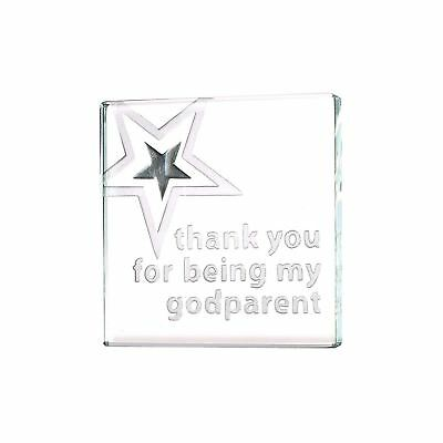£12.95 • Buy Spaceform Glass Miniature Token Thank You For Being My Godparent Keepsake Gift