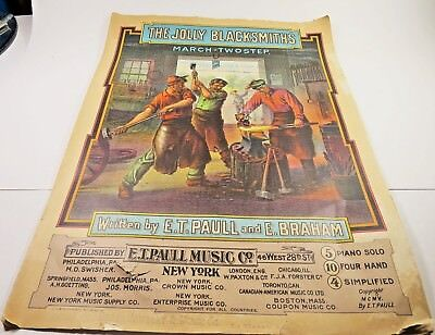 $12.99 • Buy Vtg  E.T. Paull Sheet Music 1905 The Jolly Blacksmiths March TwoStep