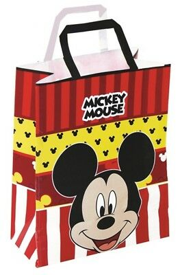 Mickey Mouse Paper Party Bags Suitable Boys Or Girls Birthday Gift Loot Bag O 1391