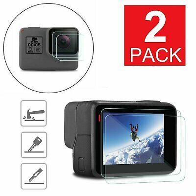 $ CDN9.61 • Buy 2-Pack For GoPro Hero 6 5 Black Clear Tempered Glass Screen + Lens Protector