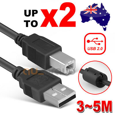 AU5.75 • Buy USB 2.0 Type A Male To B Printer Cable For HP Canon Dell Brother Epson Xerox