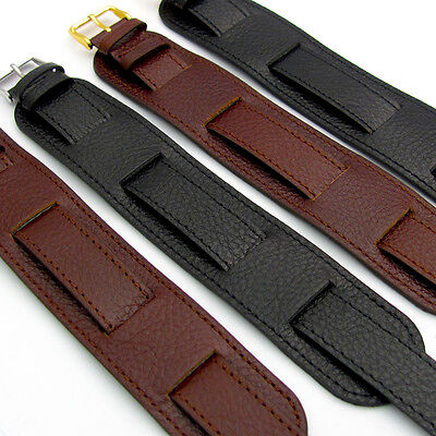 £12.99 • Buy Excellent Heavy Leather Military Watch Strap Band Cuff Style 18mm FREE POST D024