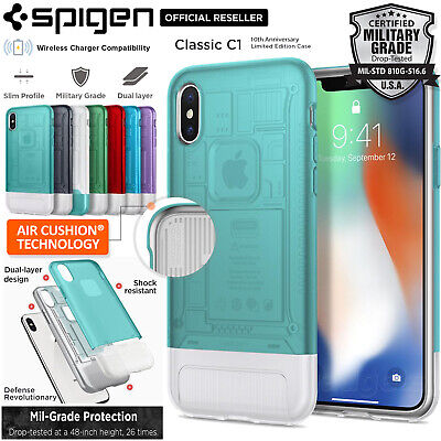 AU59.99 • Buy [FREE EXPRESS] IPhone X Case, Spigen Dual Layer Classic C1 Cover Limited Edition