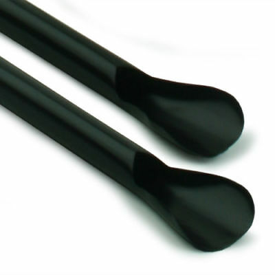 8mm BLACK SPOON STRAWS SMOOTHIE MILKSHAKE SLUSH JUMBO 200MM  BULK BUY • 18.99£