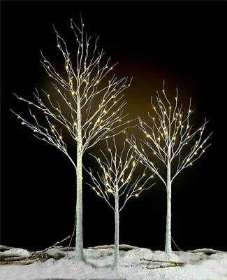 £19.99 • Buy Birch Tree Christmas Decoration 4ft, 6ft 8ft Pre Lit Warm White LED Outdoor Xmas