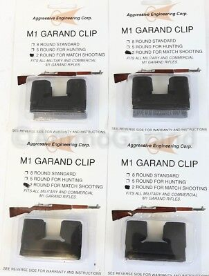 $12.95 • Buy (4x) 2 Round Garand Clips 2rd For M1 National Match NM Use US Clip Parts 2 Rd
