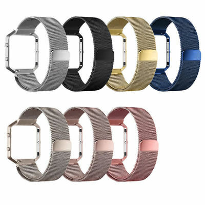AU16.19 • Buy Magnetic Stainless Steel Wrist Band Strap +Metal Frame For Fitbit Blaze Milanese