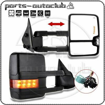 $134.97 • Buy Tow Mirrors For 2003-07 Chevy GMC Power Heated Signal Clearance Light Side View