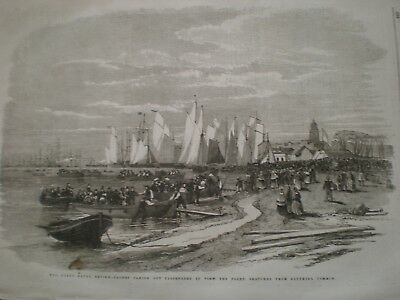 Naval Review Passenger Boats For Viewing Fleet Southsea 1856 Print Ref AT • 9.99£