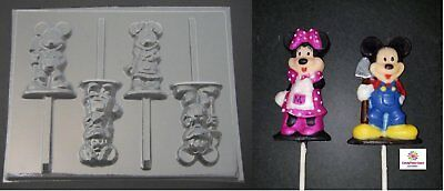 £4.26 • Buy Mickey And Minnie Mouse Farmer Chocolate Candy Lollipop Soap Mold