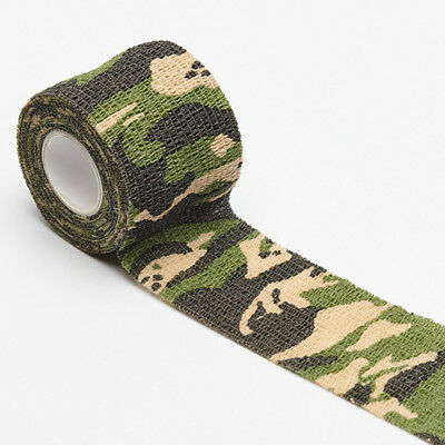 £0.99 • Buy 1 Roll Outdoor Camo Gun Hunting Camping Camouflage Stealth Duct Tape Wrap Useful