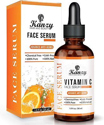 Pure Strong Hyaluronic Anti Wrinkle Anti Aging Vitamin C Face Serum • 8.99£