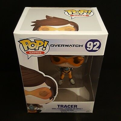 AU11.95 • Buy Funko Pop Overwatch Tracer Vinyl Figure  - Dented Box New Item