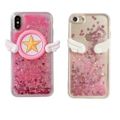 AU5.99 • Buy For Various Phone Case Sailor Moon Angel Wing Dynamic Liquid Glitter Quicksand