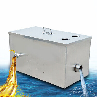 £85 • Buy ECO Stainless Steel Grease Trap Interceptor For Restaurant Kitchen Wastewater