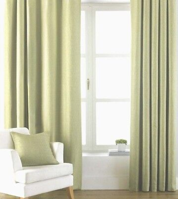 £17.99 • Buy APPLE  LIGHT GREEN  TAB TOPS CURTAINS 100% Cotton Canvas