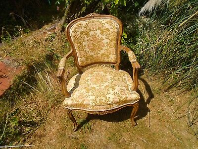 £245 • Buy Louis Xv Style French Carved Oak Armchair.