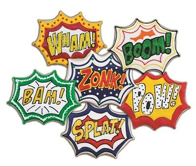 Tovolo Comic Book Burst Cookie Cutter & 6 Design Stamps Set Super Hero Wham Bam! • 6.33£