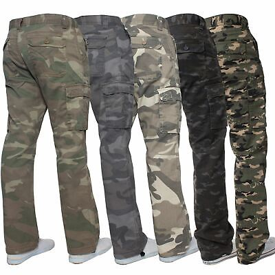 £13.49 • Buy Kruze Mens Military Combat Trousers Camouflage Cargo Camo Army Casual Work Pants