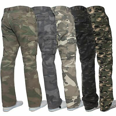 $18.85 • Buy Kruze Mens Military Combat Trousers Camouflage Cargo Camo Army Casual Work Pants