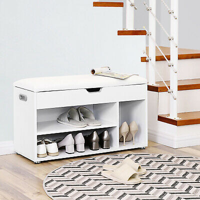 £43.99 • Buy Shoe Rack Shoe Bench Seat Cabinet Storage Chest With Cushion Max. 150 Kg LHS30W