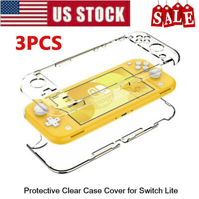 $9.44 • Buy HD Screen Protector Front Film 2x + Hard Clear Case Cover For Nintendo Switch