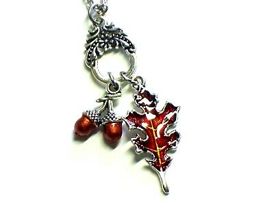 Acorn And Oak Leaf Necklace 18  Chain  /1193 • 9.99$