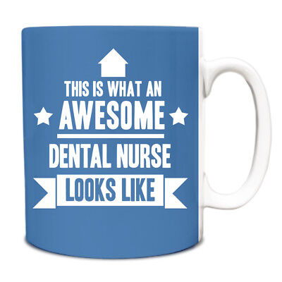 This Is What An AWESOME Dental Nurse Looks Like Mug Gift Idea Coffee Cup 059 • 6.99£