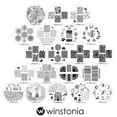 $12.95 • Buy Winstonia Nail Art Stamping Plates Set Stamp Manicure 4TH GEN Template Disc Gel